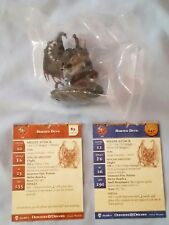 Horned Devil #34 D&D Miniature Pathfinder NEW 2006 RARE WITH STAT CARDS