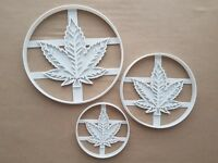 Cannabis Marijuana Leaf Shape Cookie Cutter Dough Biscuit Pastry Stamp Sharp