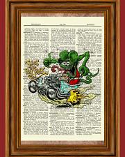 Rat Fink Dictionary Art Print Picture Vintage Book Hod Rod Collectible