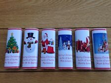 30 Personalised CHRISTMAS Chocolate Bar Wrappers teachers FREE POSTAGE
