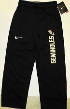 NWT Nike Florida State FSU Seminoles black Therma Fit Stay Warm Pants Boy S