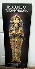 Museum Poster Treasures of Tutankhamun 1976 Egyptian Pharaoh Exhibit