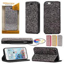 Gorilla Tech Glitter Book Protective Flip Case for Apple iPhone Samsung Galaxy