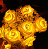 20 LEDS Rose Flower String Lights Wedding Party Christmas Decorations