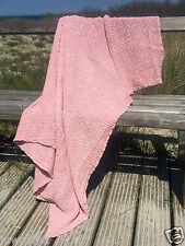 Handtuch Badetuch Saunatuch 110x160 cm rosa Leinen Stonewashed Waffelpique Trend