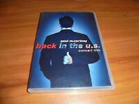 Paul McCartney - Back in the U.S. Live (DVD, Full Frame 2002) Used US  OOP