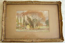 Unknown Unidentified European: Country Landscape 1930's / Pastel French