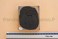 N073 Ancien tampon scolaire bois plastique KHYP fruit pomme pommier arbre 9*8 cm