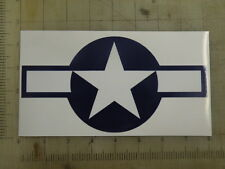 "Vintage Star and Bars blue & wht decal sticker 8""x4.2"""