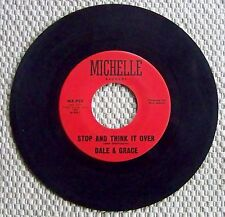 "DALE AND GRACE "" STOP AND THINK IT OVER "" 45 RPM RECORD (1963)"