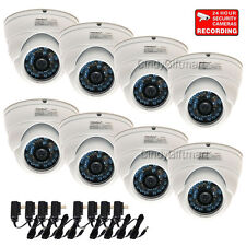 "8x Wide Angle Dome Security Camera 600TVL Outdoor Day Night w/ 1/3"" SONY CCD cqc"
