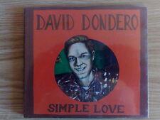 DAVID DONDERO - SIMPLE LOVE - CD DIGIPAK NUOVO SIGILLATO (SEALED)