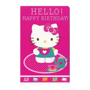 American Greetings Hello Kitty Birthday Card: Hope Your Day is Tea-rrific!