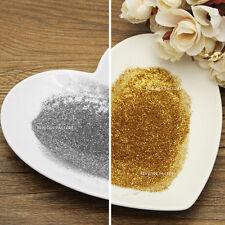 12 Gold & Silver Sparkling Fine Glitter Shine Dust Powder Nail Body Craft 3025