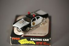 Tyco HO SCALE Slot Car With Case #8537 Ultimate Police Car