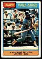 1976 TOPPS HANK AARON MILWAUKEE BREWERS #1