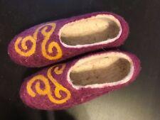 NEW Kyrgyz  Felt Wool Handmade Slippers/House Shoes Men's Women's Embroidered