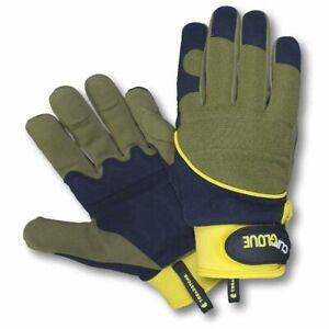 Clip Glove Shock Absorber Mens Gardening Gloves- Medium & Large