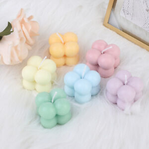 1Pc Small Bubble Cube Candle Soy Wax Aromatherapy Scented Candles Home Decor.bu