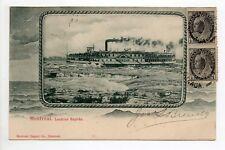 CANADA carte postale ancienne MONTREAL bateau lachine rapids