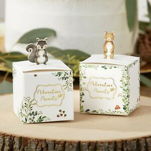 24 Woodland Animals Candy Boxes Baby Shower Party Favors Decorations MW37014