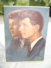 Vintage Lithograph Print of John F. Kennedy and Brother RFK by Alton Tobey