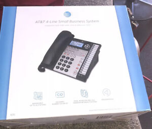 AT&T 1070 4-Line Expandable Corded Phone System, 1 Handset, Black/Silver. NIB