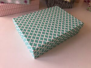 DECORATIVE COLORFUL GIFT/STORAGE BOX, Recycled paper - LG Turquoise