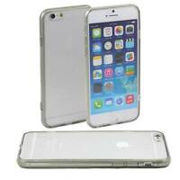5 x GREY HARD BACK CASE FITS iPHONE 6 APPLE CLEAR TPU SILICONE BUMPER COVER M45