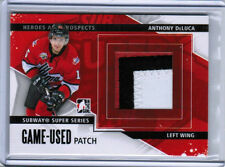 13/14 HEROES & PROSPECTS ANTHONY DELUCA SUBWAY SUPER SERIES GAME-USED PATCH /30
