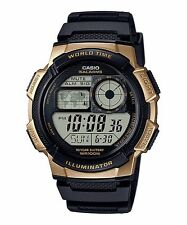 AE-1000W-1A3 Black Gold Casio Men's Watch Standard Digital Black 10-Year Battery