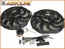 """12"""" Aeroline ® 120 W 12 V Radiatore Elettrico Ventilatore Di Raffreddamento x2 ideale TRACK/Drift Auto"""