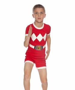 Power Rangers Red Ranger Cotton Pajama Set Size 8 or 10 NWT May Run Small