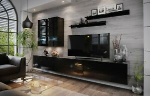 Modern Living Entertainment Wall Unit TV Stand BOXING 1 Gloss - 2 Colours