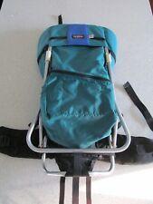 Tough Traveler Child Baby Carrier Hiking Backpack Green Blue Nylon
