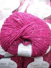 5 x 50g Debbie Bliss Luxury Tweed Aran shade 21 Fuchsia