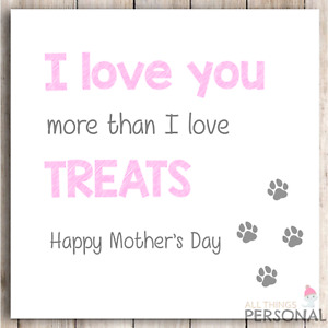 Funny Mothers Day Card from the Dog - Best Dog Mum Mother's Card - Dog Mummy