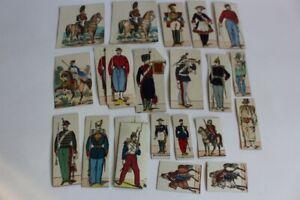 Lot de 25 images sur carton EPINAL soldats cavalier militaria (32447)