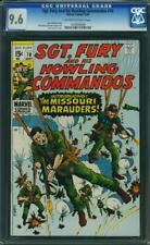 SGT FURY AND HIS HOWLING COMMANDOS 70 CGC 9.6 OWW PAGES 1969 A1