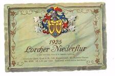 Germany - Wine Label - Gebruder Illert, Hanau - 1925 Lorcher Niederflur