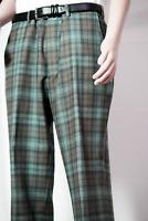*NEW* $200 Orvis® Men's 40/31 Green Tartan Pants Top Quality Finest Wool