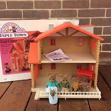 Vintage Maple Town Log Cabin Bear's Store Bear Family Original Box Tonka 1980s