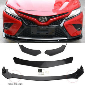 For Toyota Camry Front Bumper Lip Body Kit Lower Spoiler Splitter Glossy Black Q