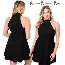 New Ladies Black Dress Plus Size 16 (9936)NN