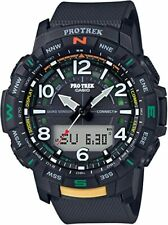 CASIO PRTB50-1 Pro Trek Bluetooth Quad Sensor Atomic Black Men's Watch