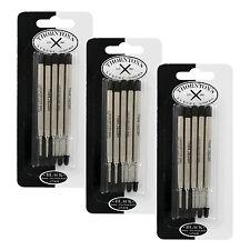 Thornton's Luxury Goods Parker Style Ballpoint Refills, Fine, Black, 15/Pack