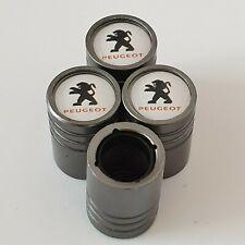 PEUGEOT Titanium Matte Grey valve Tyre Dust Caps Plastic Inside all models 406