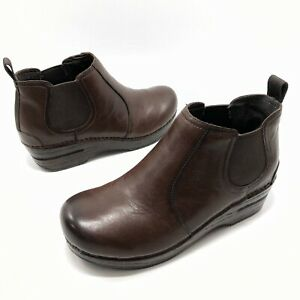 ✅❤️✅I Dankso Frankie Chelsea Bootie Brown Leather 6.5-7/37 Brown Ankle Boot Clog