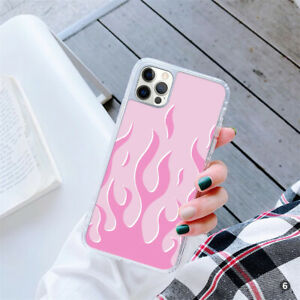 For Apple iPhone 12 Samsung S21 Huawei Flames GEL Case Cover 145-6