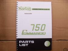NORTON COMMANDO 750 PARTS BOOK